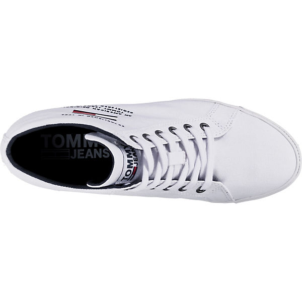 Tommy Sneakers Jeans Weiß Low Wedge Casual Sneaker NXnw80OPk