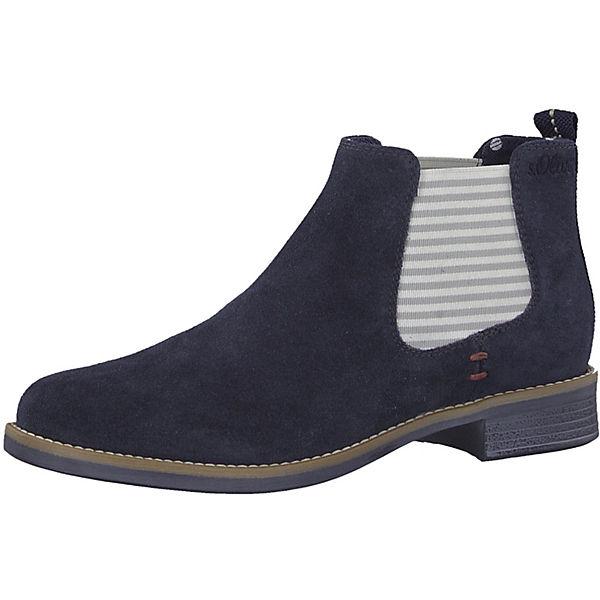 new style 49232 169e3 s.Oliver, Chelsea Boots, dunkelblau