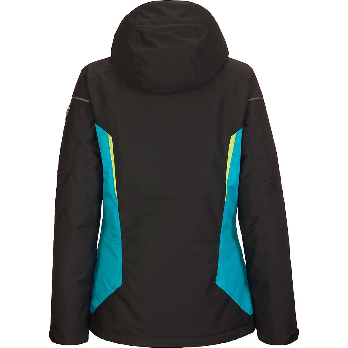 killtec, Skijacken Erlya - Funktionsjacke mit abzippbarer Kapuze und Schneefang, schwarz