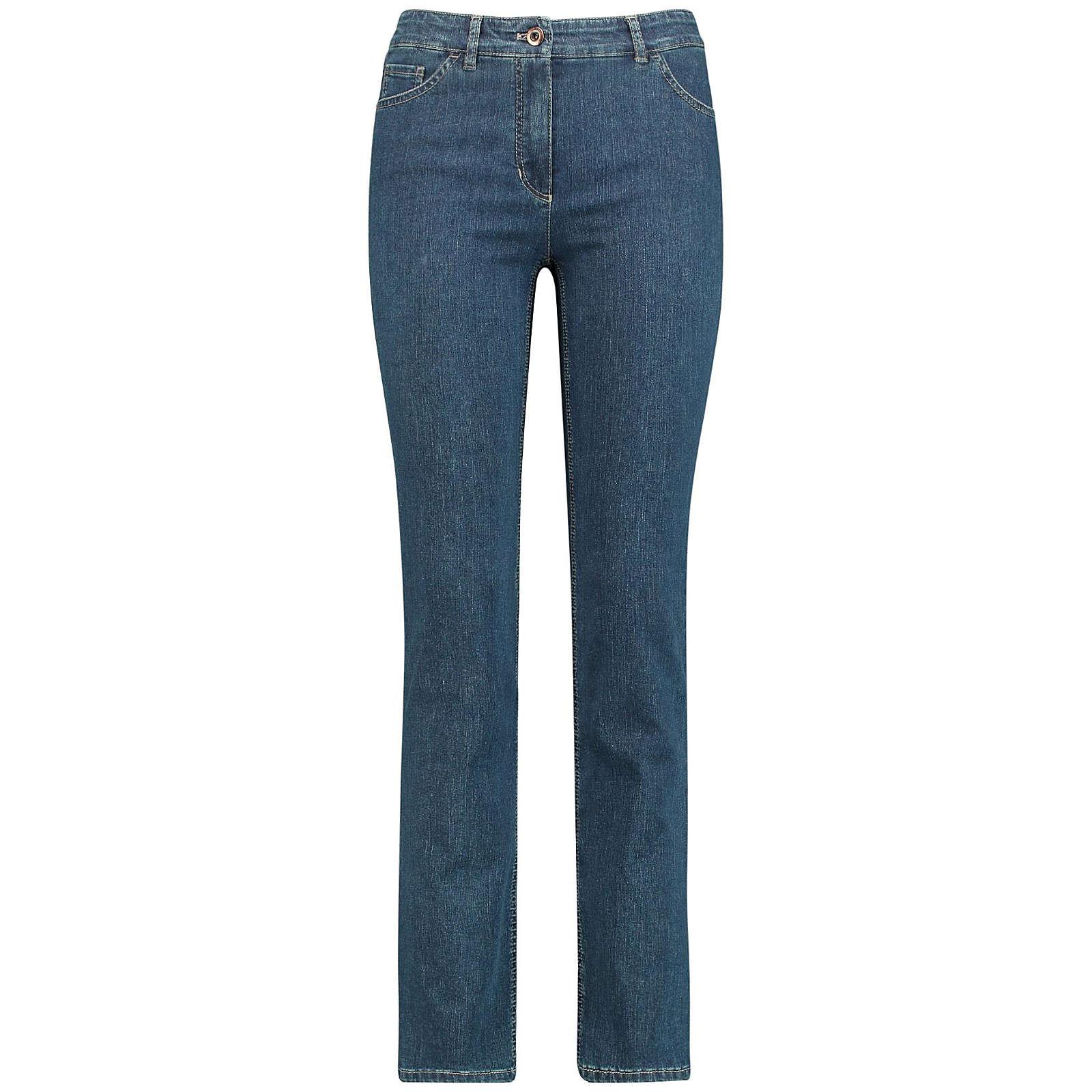 Gerry Weber Hose Jeans lang 5-Pocket Jeans Straight Fit Romy dark blue denim Damen Gr. 46