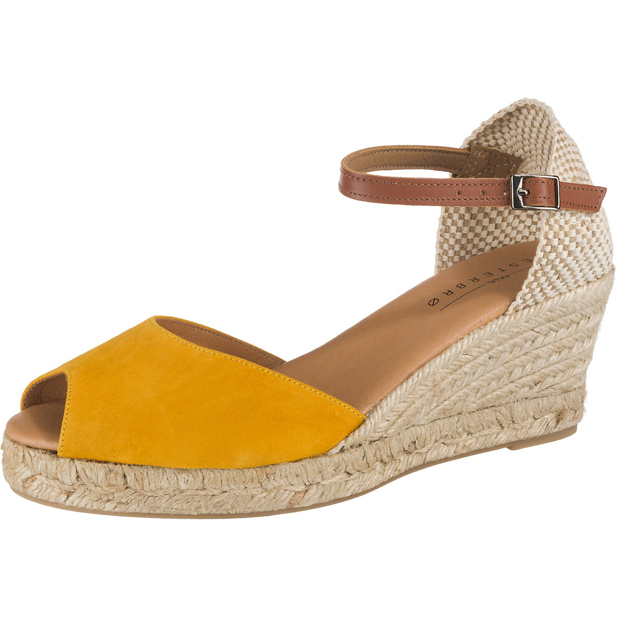 Paul Vesterbro, Leder Keilsandaletten, gelb  Gute Qualität beliebte Schuhe