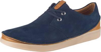 CLARKS FUNNY DREAM Schuhe Damen Leder Schnürschuhe jeans blau Gr.5,5 39 SALE