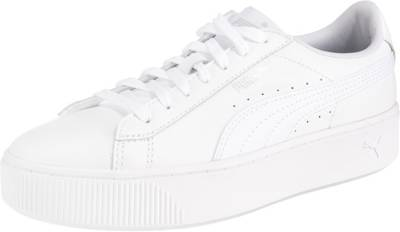 PUMA, Vikky Stacked L Sneakers Low, weiß