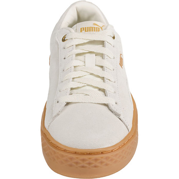 Creme Low Smash Platform Frill Puma Sneakers v76gbfIYy