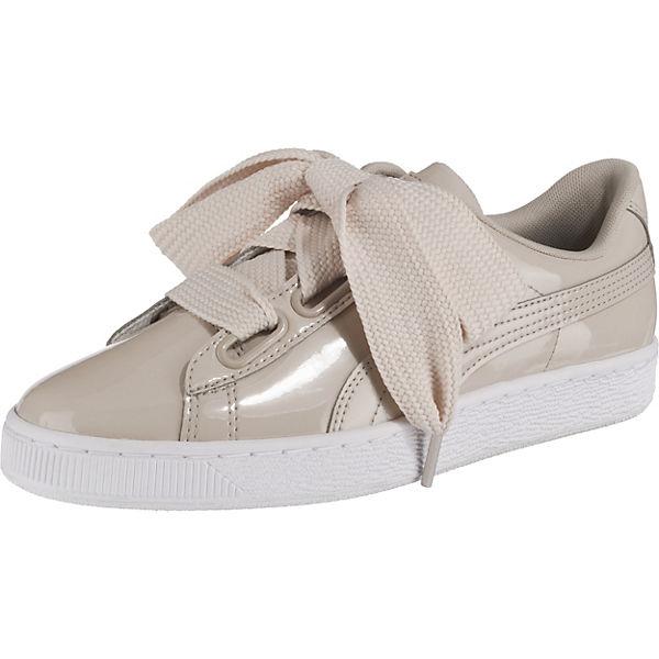 best service 16452 76a76 PUMA, Basket Heart Patent Wn's Sneakers Low, beige