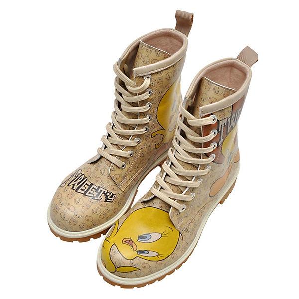 Dogo Qualität Schuhes, Stiefel Tweety Moods Schnürstiefeletten, natur  Gute Qualität Dogo beliebte Schuhe f6bc0e