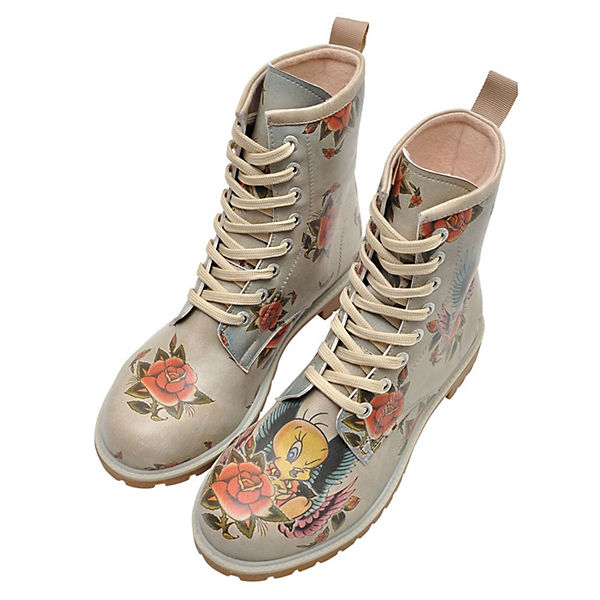 new style c8fea d524a Dogo Shoes, DOGO Boots Tweety with Roses Klassische Stiefel ...