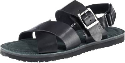Paul Vesterbro, Klassische Leder Sandalen, schwarz