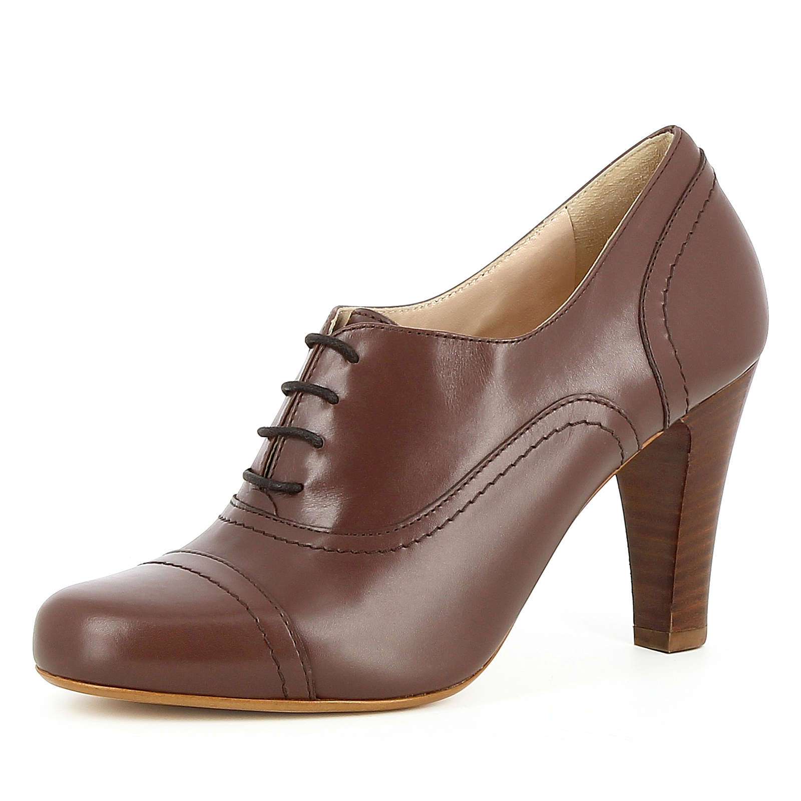 Evita Shoes Damen Pumps MARIA Schnürpumps braun Damen Gr. 37