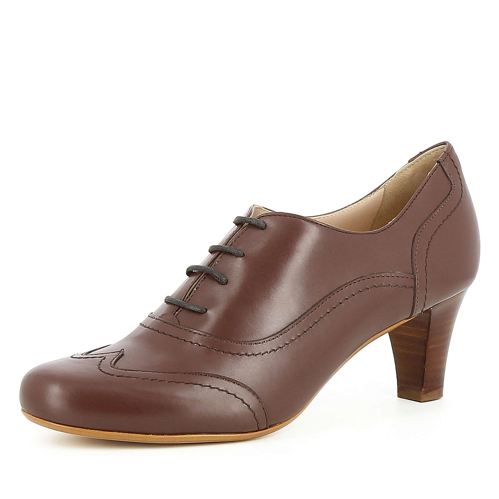 Evita Shoes Damen Pumps GIUSY Schnürpumps braun Damen Gr. 38