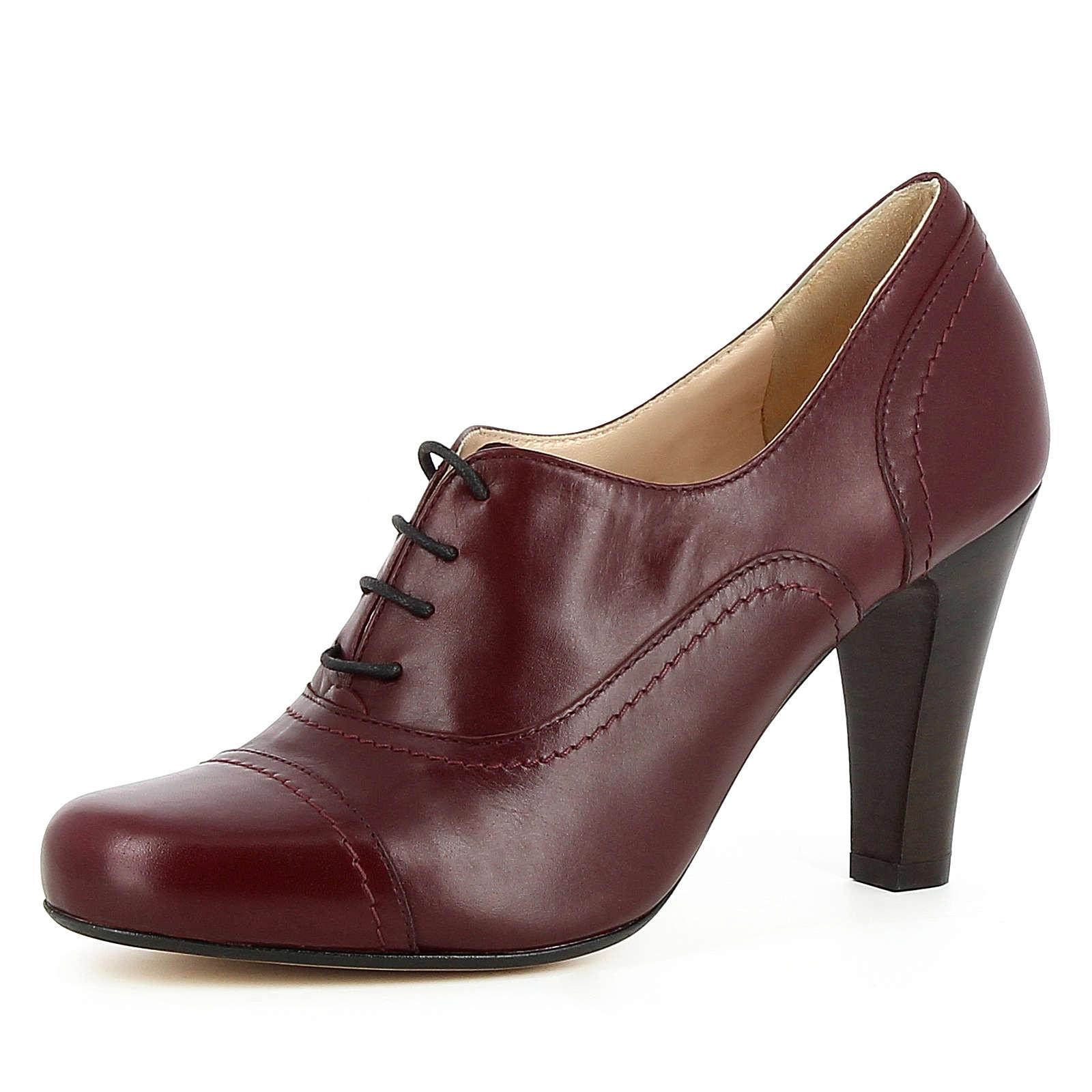 Evita Shoes Damen Pumps MARIA Schnürpumps bordeaux Damen Gr. 38