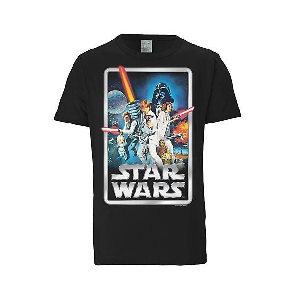 Schwarz Logoshirt® Logoshirt Sterne shirt Der Poster frontdruck shirts T Krieg Mit T xBeCodrW