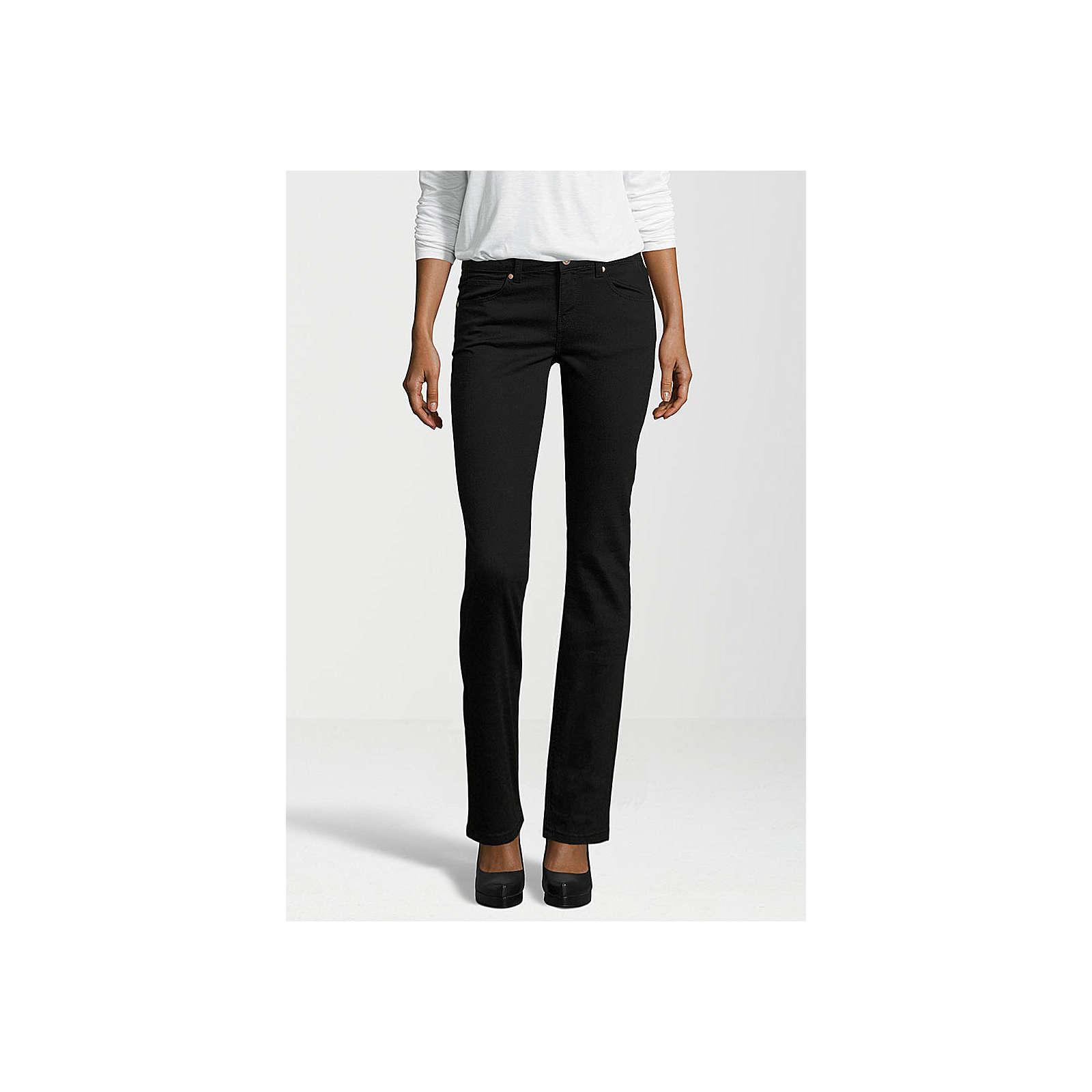 Gin Tonic Jeans STRAIGHT black Jeanshosen schwarz Damen Gr. W30/L32