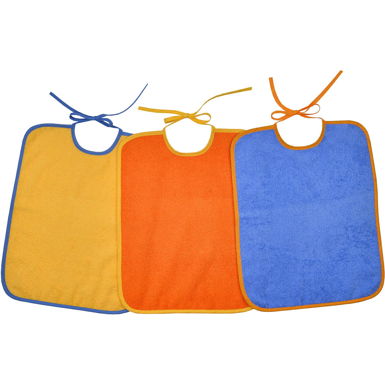 Wörner Riesen-Bindelätzchen 3er Set, gelb/orange/blau, 32 x 40 cm mehrfarbig Gr. 30 x 40