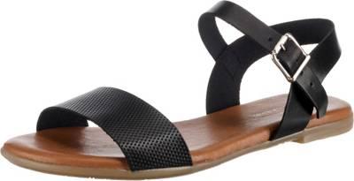 Paul Vesterbro, Leder Klassische Sandalen, schwarz