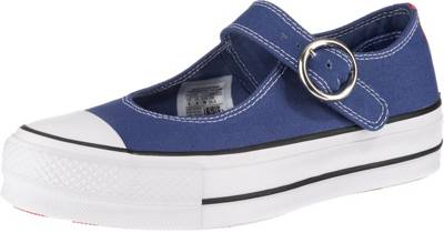 CONVERSE, Chuck Taylor All Star Mary Jane Ox Riemchensandalen, blau