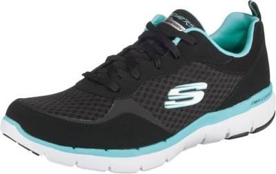 SKECHERS, FLEX APPEAL 3.0 GO FORWARD Sneakers Low, schwarz kombi