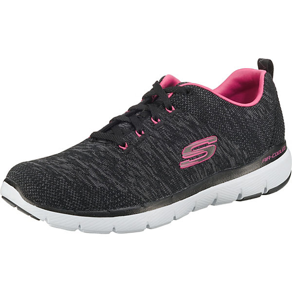 low priced 7b5f1 dca38 SKECHERS, FLEX APPEAL 3.0 Sneakers Low, schwarz/pink