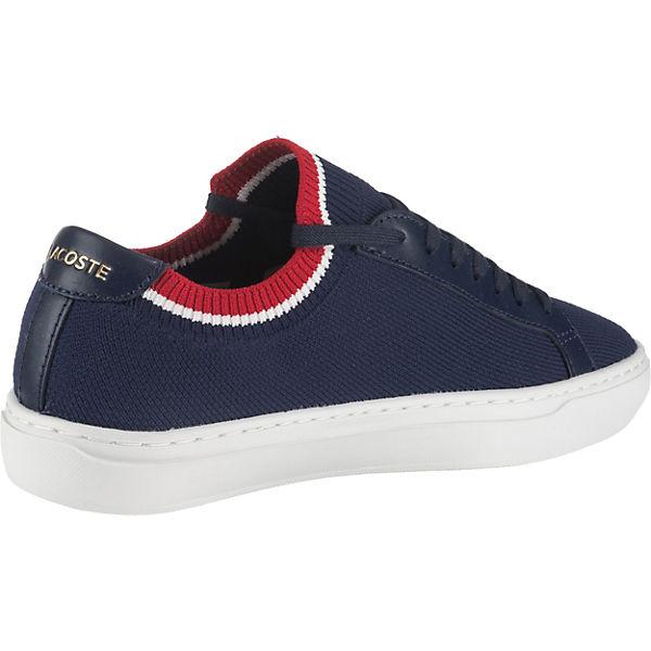 Piquée Sneakers La Low Lacoste Dunkelblau uZTkPiOX