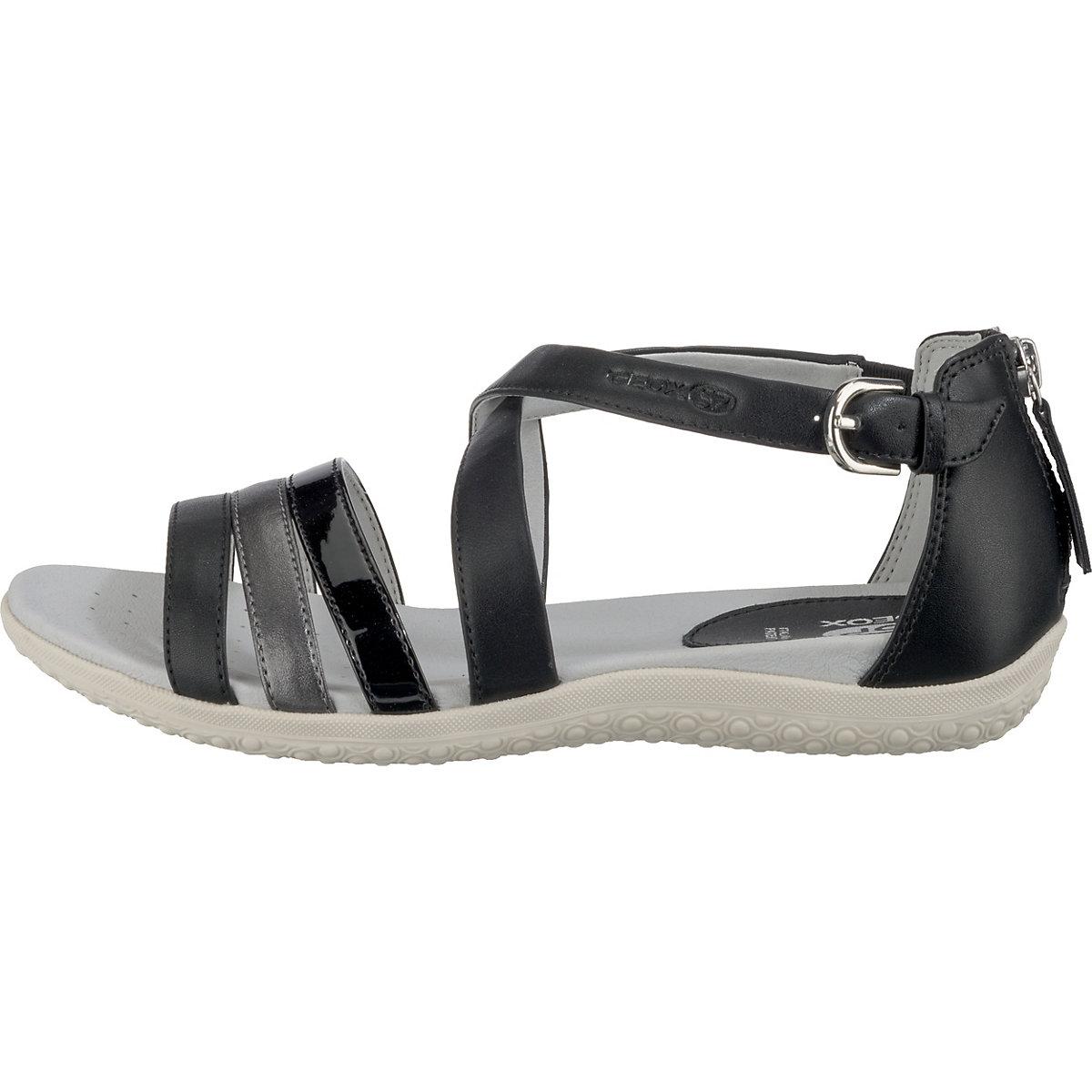 Geox, Komfort-sandalen, Schwarz/grau