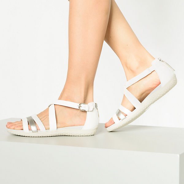 GEOX, Komfort-Sandalen, weiß  Gute Qualität beliebte Schuhe