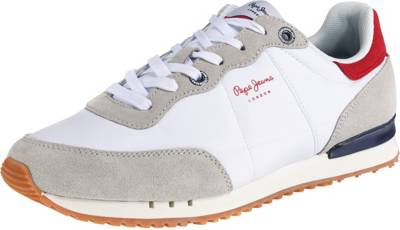 Pepe Jeans, TINKER BASIC NYLON Sneakers Low, weiß