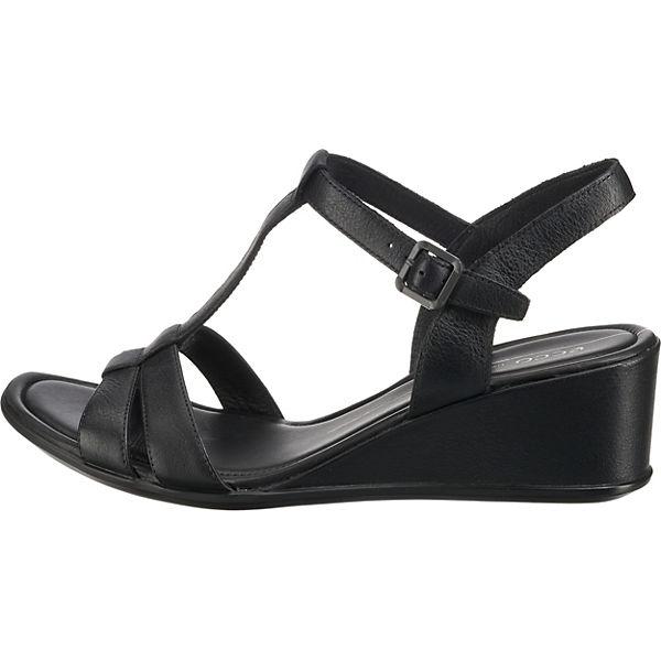 Klassische Wedge Sandaletten Schwarz Sandal Ecco Shape 35 qEfwR1I