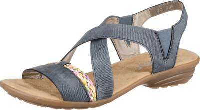 Am beliebtesten Damen Schuhe Rieker Sandalette beige kombi