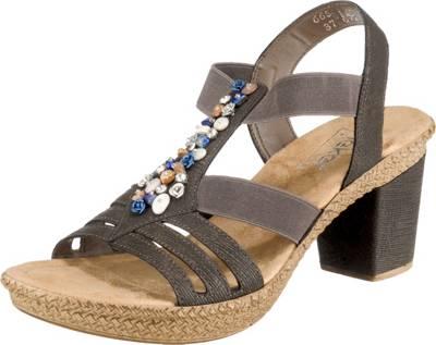 rieker, Klassische Sandaletten, grau