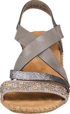 Rieker, Klassische Sandalen, Grau
