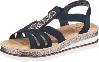 rieker, Klassische Sandalen, schwarz