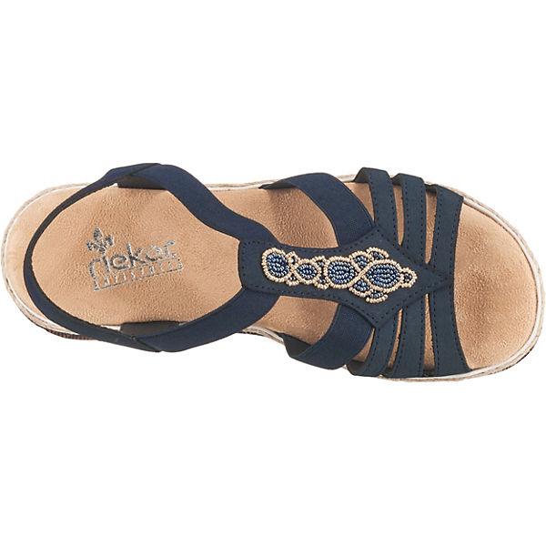 Rieker Klassische Blau Sandalen kombi Klassische Sandalen Blau Rieker Z1xRwq81r7