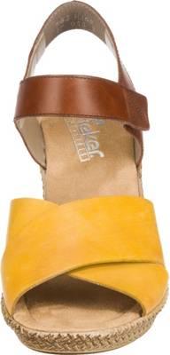 rieker, Klassische Sandaletten, gelb kombi
