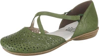 rieker Klassische Slipper grün mirapodo Schuhe Leder