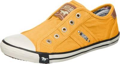 MUSTANG, Slip On Sneaker, gelb
