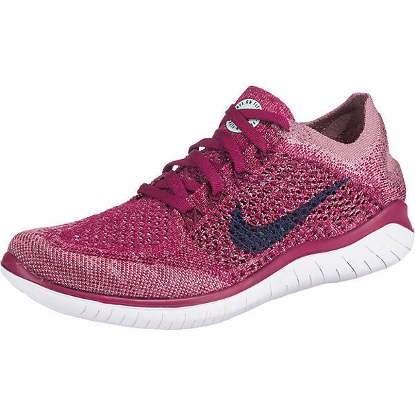 big sale 83e02 20a3e Nike Performance, Free Rn Flyknit 2018 Laufschuhe, pink/rosa