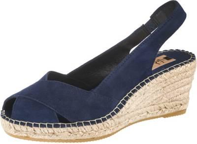 Damen blau Schuhe Sommer Schlupfschuhe Ballerina Slipper Joy