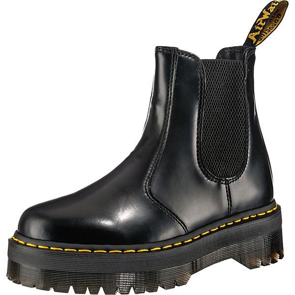 heiß-verkaufender Beamter Rabatt-Sammlung Turnschuhe Dr. Martens, 2976 Quad Plateau Chelsea Boot, schwarz