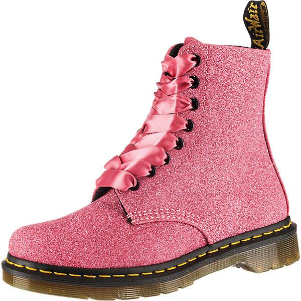 USA billig verkaufen Sortendesign Schnäppchen 2017 Dr. Martens, 1460 Pascal Glitter 8-Loch Damen Stiefelette, rosa