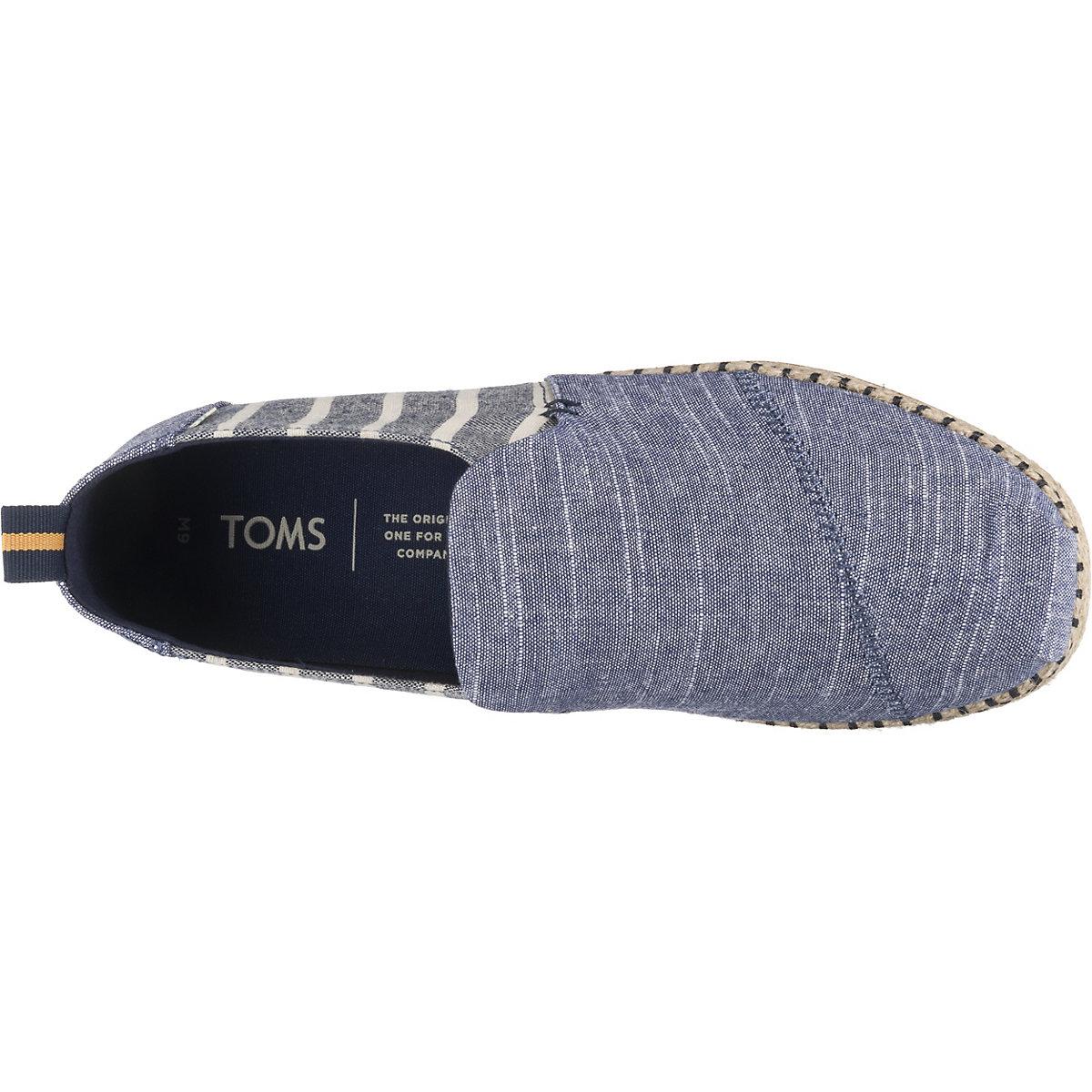 Toms, Deconstructed Alpargata Rope Klassische Slipper, Dunkelblau