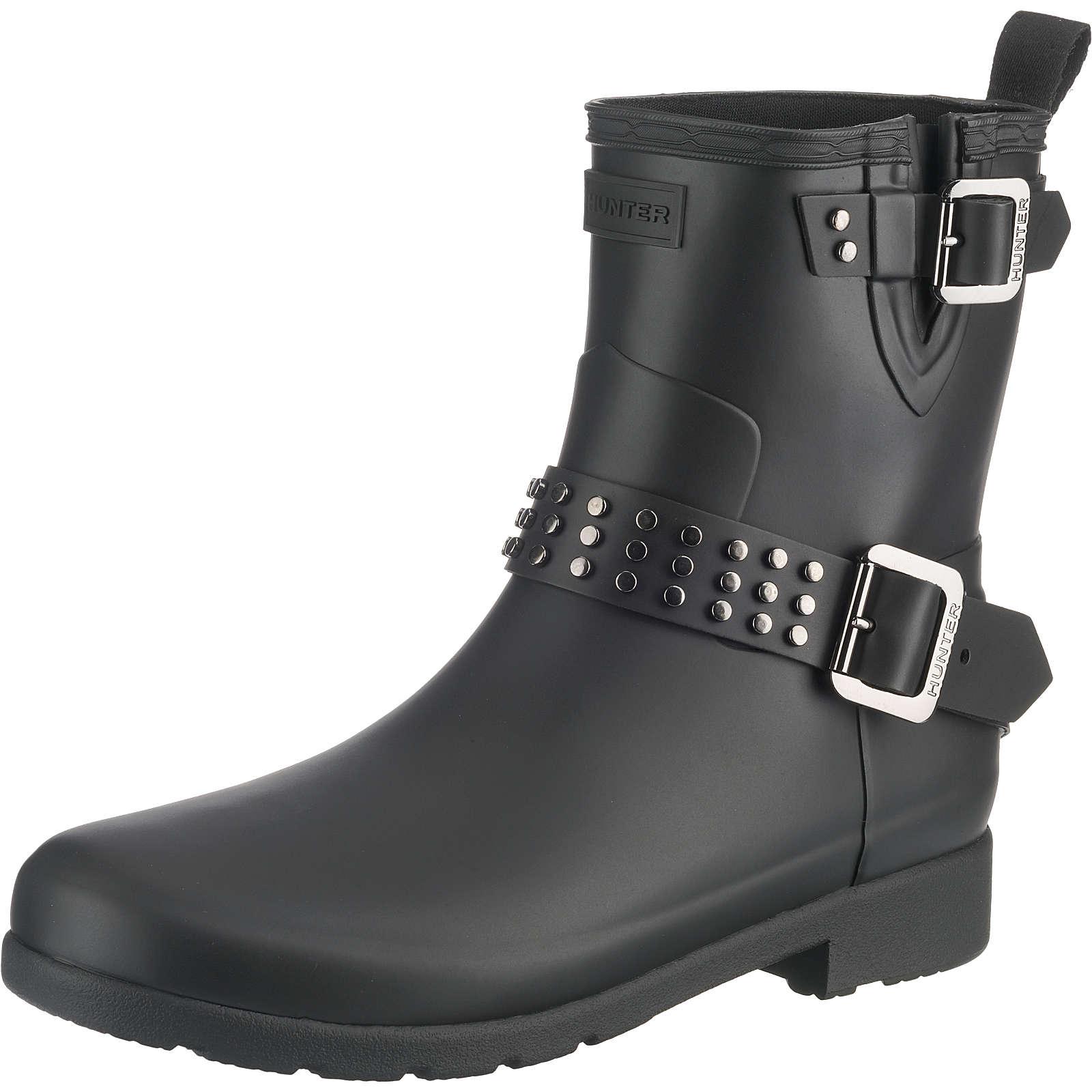 HUNTER Biker Boots schwarz Damen Gr. 42