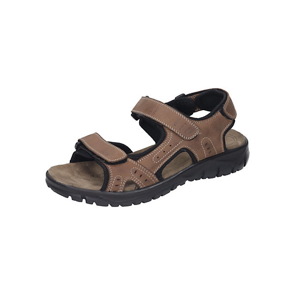 Beste Wahl Manitu Herren Sandalette Komfort-Sandalen braun