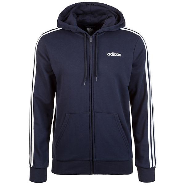Herren Dunkelblau 3 Stripes Performance Kapuzenjacke Adidas Essentials QCsBhrtdx