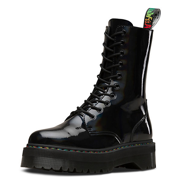 10 Eye Boot Jadon Rainbow Patent Ankle Boots