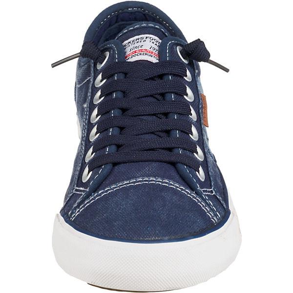 By Dockers Sneakers Dunkelblau Low Gerli Om8n0Nwv