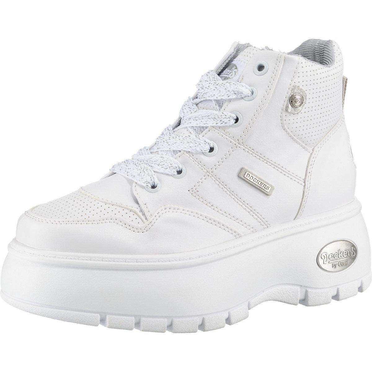 Dockers by Gerli, Turnschuhe High, weiß  Gute Qualität beliebte Schuhe