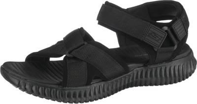 SKECHERS, ELITE FLEX LINSTON Komfort Sandalen, schwarz