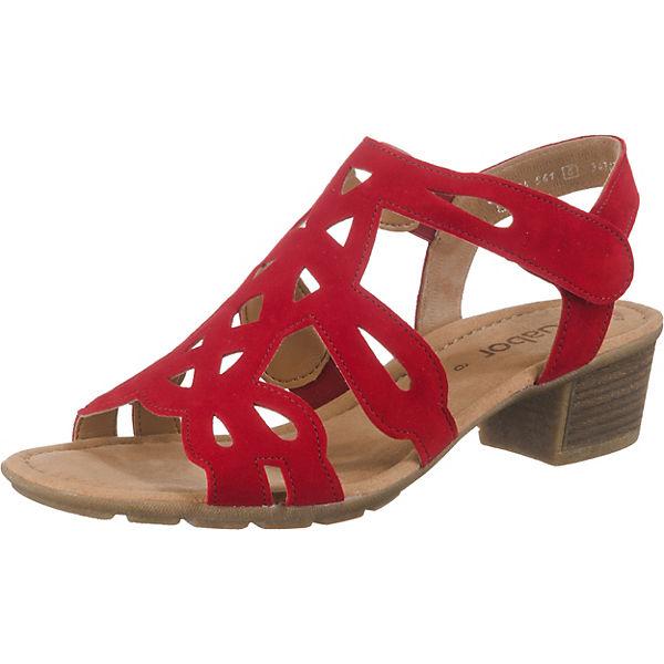 geschickte Herstellung Rabatt-Verkauf größter Rabatt Gabor, Klassische Sandaletten, rot
