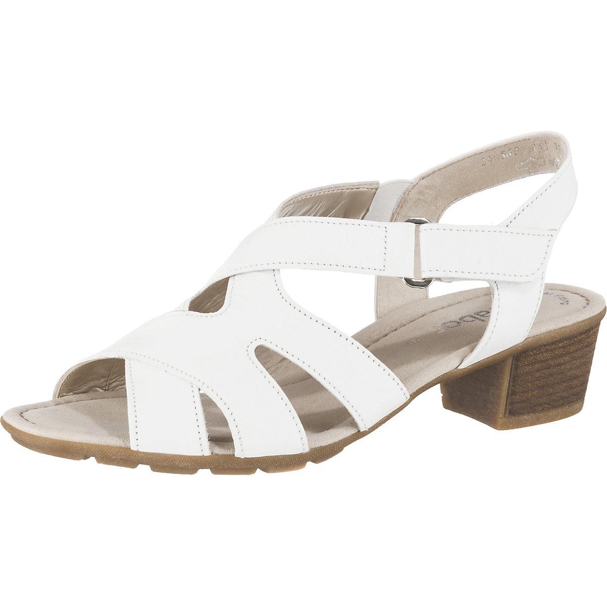 Gabor, Klassische Sandaletten, weiß  Gute Qualität beliebte Schuhe