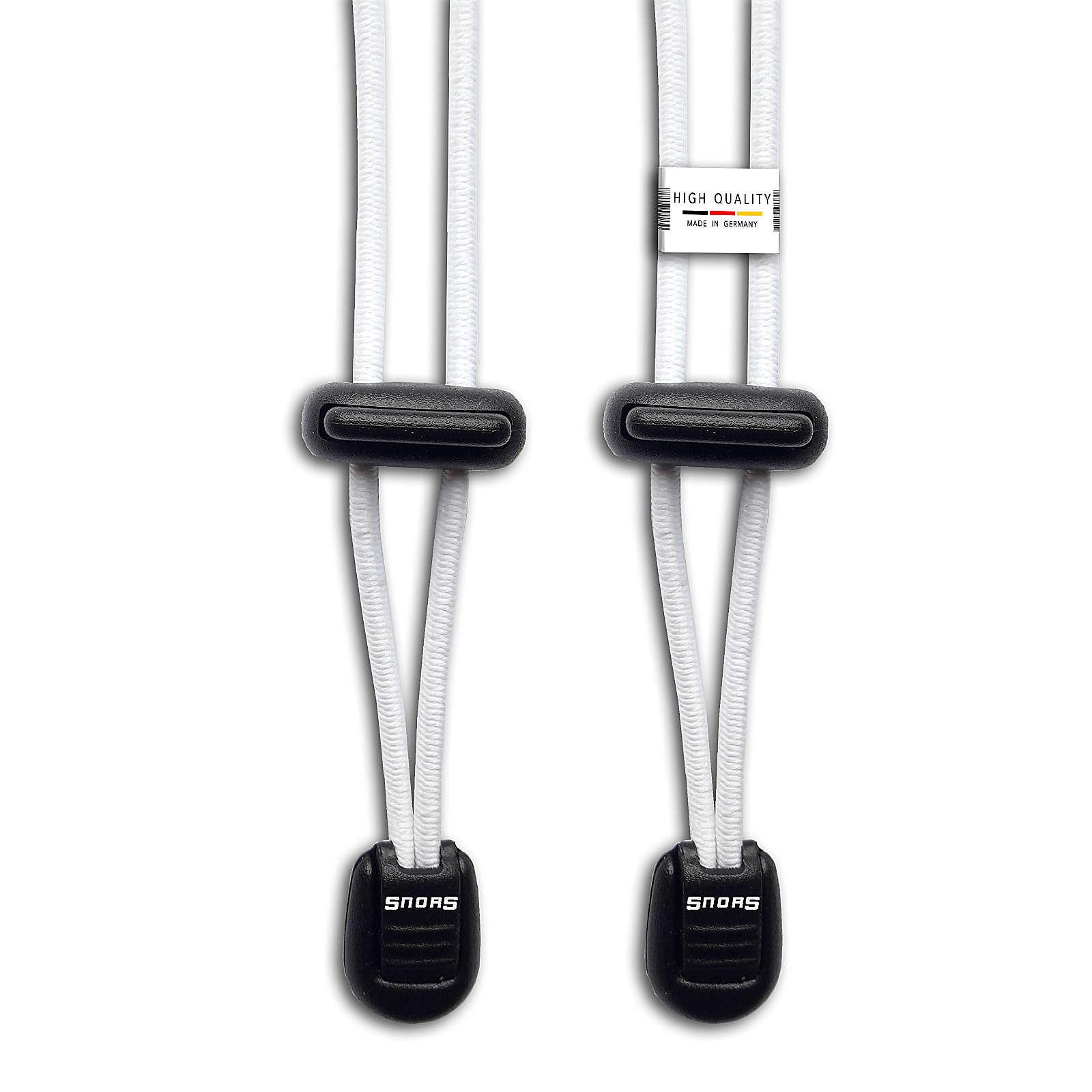 SNORS shoefriends Schnürsystem 120cm - elastische Schnürsenkel mit Schnellverschluss Schnürsenkel weiß Gr. 120